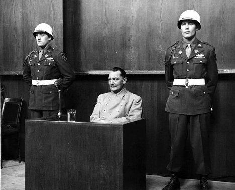 Herman Goering on trial at Nuremburg