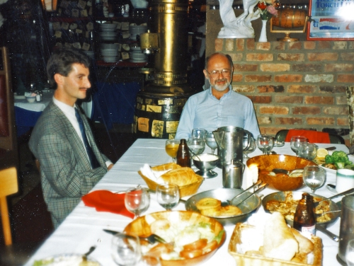 Nigel Ingram (Regton, Ltd.) and I. Lighthouse Restaurant, Weehawken, NJ 1988