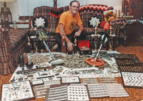 My good friend Archie Ray and his finds, early 80's