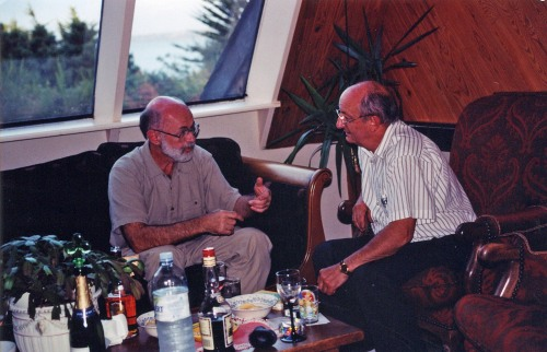 Apertif time with Michel Tocque, St. Brieuc, France, circa 1995