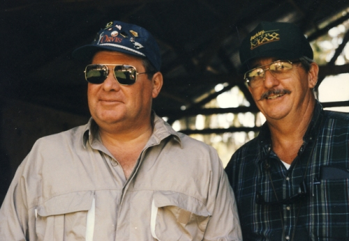 John Howland & Norm Presson, fishing trip/Caddo Lake, 1990
