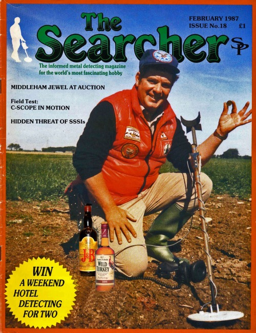 "John ""Bubba"" Howland, cover of early Searcher magazine....with his favorite liquids."