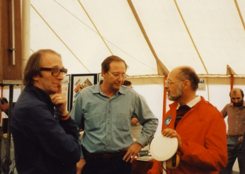 Peter Bettis, Jim Brackenridge (Garrett) and yours truly...UK rally, mid 80's
