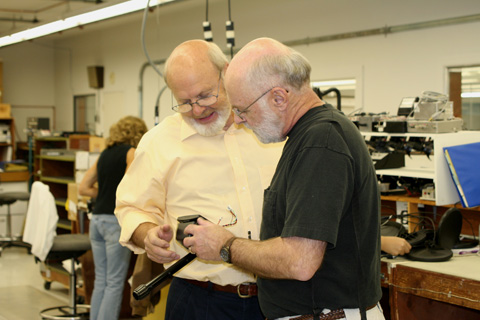 Alan Holcombe and I, White's factory, 2008