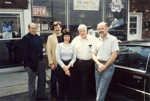 Attorney Sam Abramo, Secretary Jerry Lenk, Treasurer Rosalie Ray, VP Harry Bodofsky and yours truly. FMDAC meeting, North Jersey, 80's...