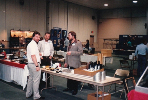 Alan Cannon (Compass), Carl Matheis & Gary Bischke (Outdoor Outfitters)....Treasure Expo, late 80's