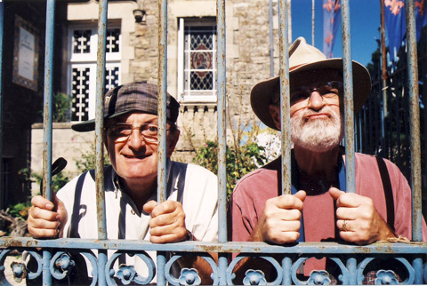 Michel Tocque and I goofing off, Gironde, France...