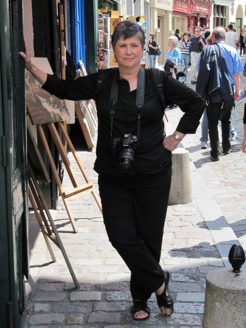 My wife Fay, Paris, 2008