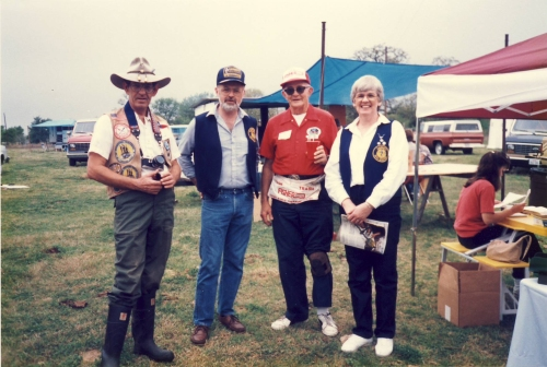 Frank Lawson, yours truly, the late Gene Humphreys and Mary Penson