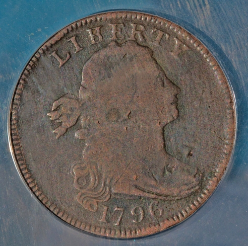 "1796 ""Liherty"" error Large Cent.....found Bucks County, Pa, sometime in the 80's..."