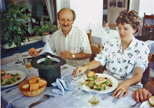 Lunch with Michel & Joelle Tocque, France, mid 80's
