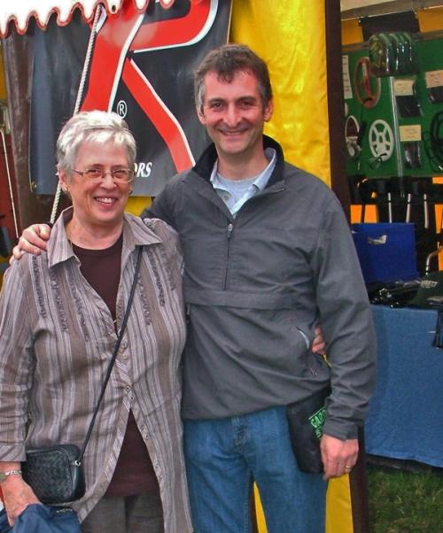 Margaret (Mags) Howland with Nigel Ingram, Rally, UK