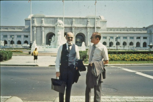 Archie Ray and I, Washington, D.C., after speaking before Senate subcommittee, mid-80's