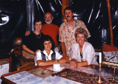 Fay and I with the Western & Eastern Treasures gang, Seattle 1995