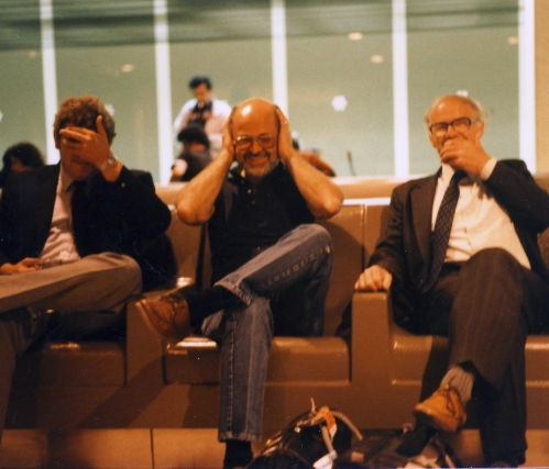 See no evil, hear no evil. speak no evil. John Howland, Dick Stout & Gerald Costello, JFK Airport, 1985