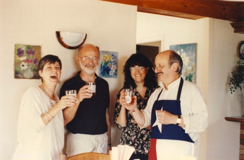 Fay and I during our visit with Joelle and Michel Tocque, West coast of France, early 90's