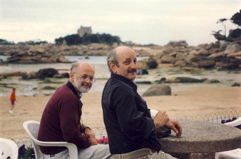 Michel Tocque & I, Brittany area of France, early 90's