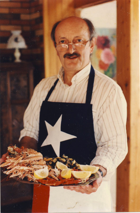 Besides being an excellent TH'er, Michel is an excellent cook, early 90's
