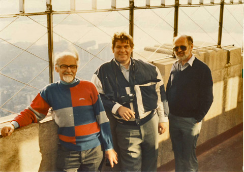 Gerald Costello, John Howland and yours truly, atop the Empire State Building