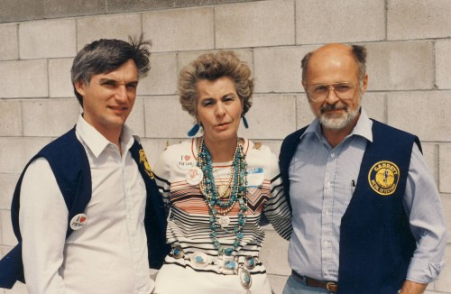 Bob Podhrasky, Della Ruth & I, early Treasure Expo, late 80's