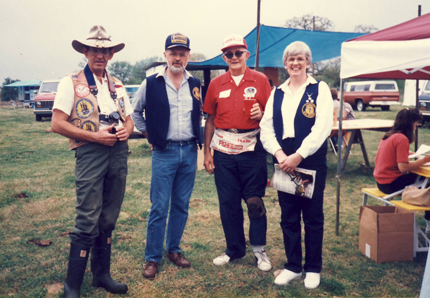 Frank Lawson, yours truly, Gene Humphries & Mary Penson, club hunt, Texas,  late 80's