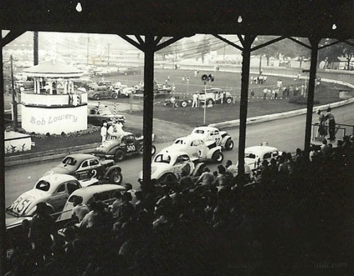 Early photo of Flemington Speedway