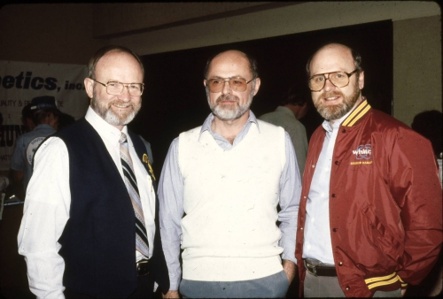 Charles Garrett, yours truly and Alan Holcombe, mid 80's