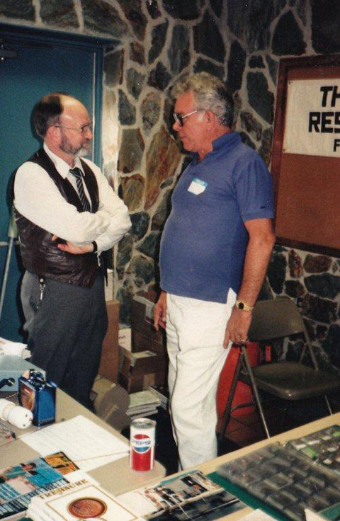 Charles and Roy Volker, early Treasure Expo (photo compliments of Paul Tainter)