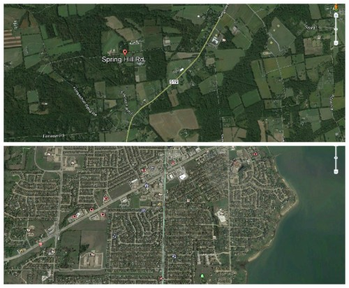 Top: Hunterdon County, New Jersey Bottom: Dallas County, Texas
