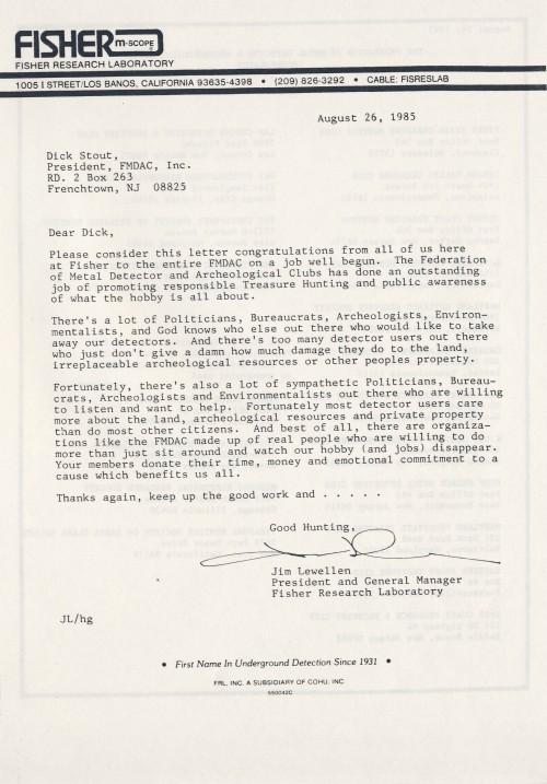 Jim Lewellen was an avid supporter of the FMDAC and a dear friend....