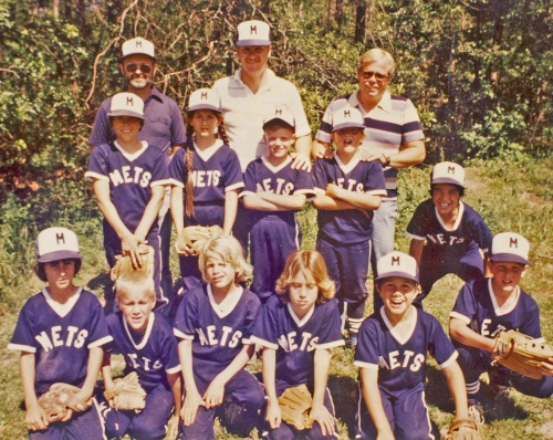 "My detecting partner Dan Hamilton (top right) and I were coaches or the amazing Mets (can you say ""bad news bears"")."