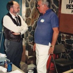 The late Charles Garrett and Roy Volker